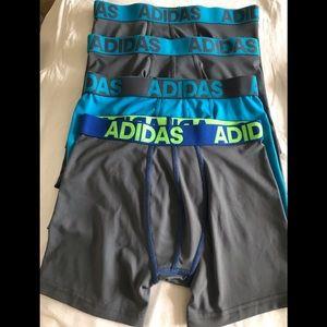 Boys Adidas Climalite Boxer Underwear